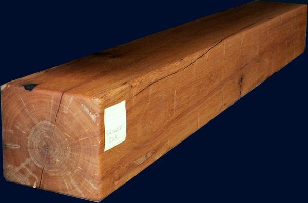Large oak mantel
